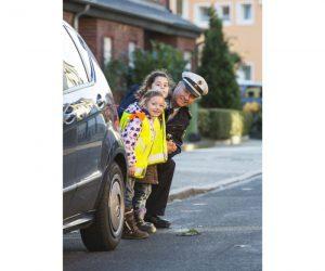 Verkehrssicherheitstraining, Schulwegsicherung, im Auftrag des MIK NRW, Foto: Jochen Tack