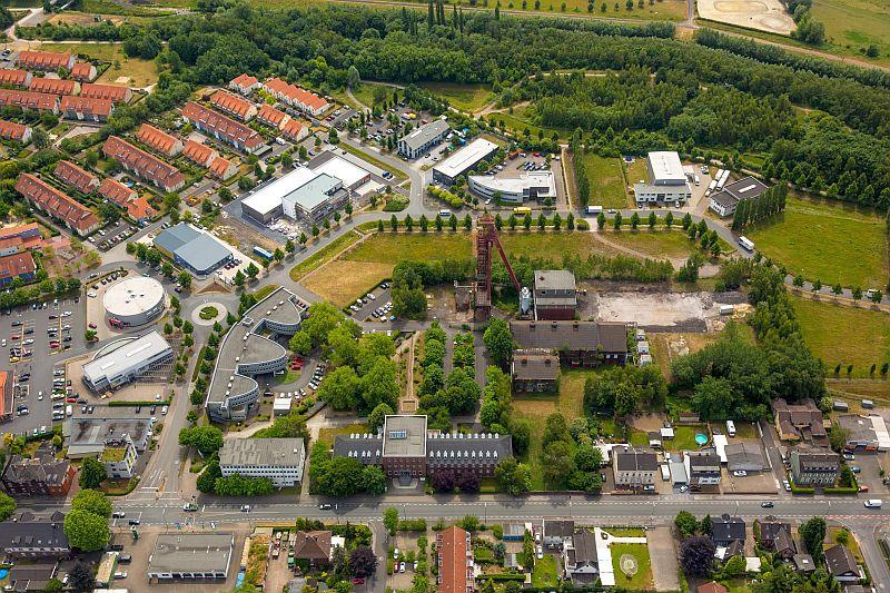 Ein großer Teil des Kreises Unna – hier der Technopark in Kamen – ist oder war stark von der Industrie geprägt. Foto: H. Blossey – Kreis Unna Deutschland