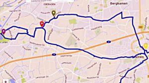 Strecke der 3. Radkultour in Bergkamen.