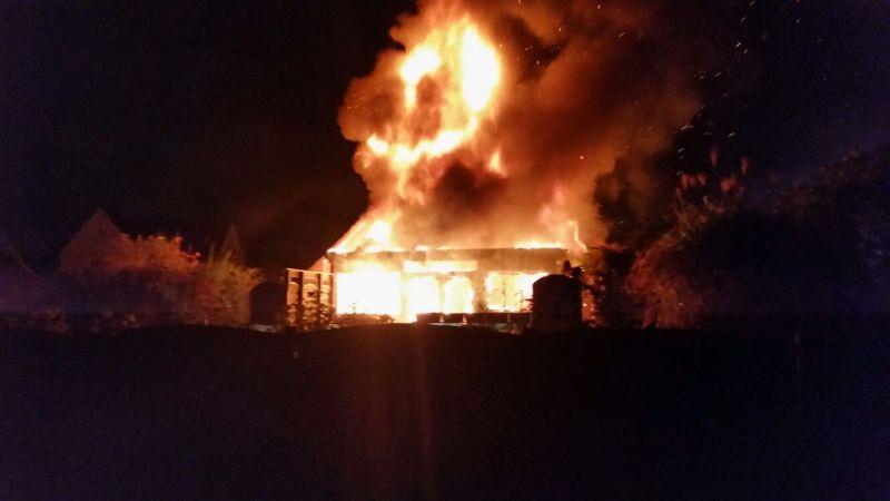 Brand eines Einfamilienhauses Am Füllort in Rünthe. Foto: Feuerwehr Bergkamen