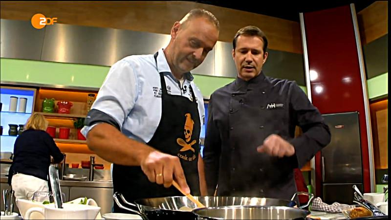 Carsten Blum (l.) mit Koch-Star Alexander Hermann.