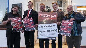Das Grand-Jam-Team (v. l.): Sascha Masurkewitsch, Michael Krause, Tommy Schneller, Holger Lachmann und David Zolda vom Kulturreferat.