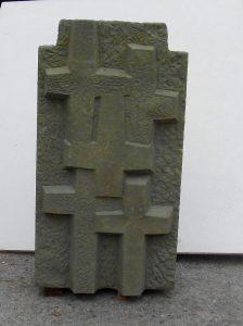 Das neue Denkmal für den Rünther Friedhof.