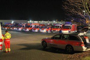 Rettungskräfte aus dem gesamten Kreis Unna waren am Dienstag in Werne im Einsatz.