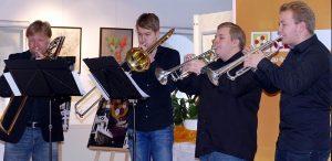 Das Bleckbläserquartett der Bergkamener Musikschule gestaltete den musikalischen Rahmen für den Neujahrsempfang der CDU.