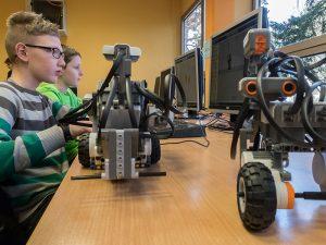 Roboter standen für Erkundungstouren bereit.