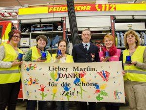 Besondere Ehre für Martin Schumacher und 22 Jahre Brandschutzerziehung.