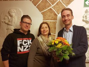 Die neue Spitze der Bergkamener Grünen (v. l.): Oliver Schröder, Irina Ehlermann und Rolf Humbach. Foto: Bündnis 90/Die Grünen